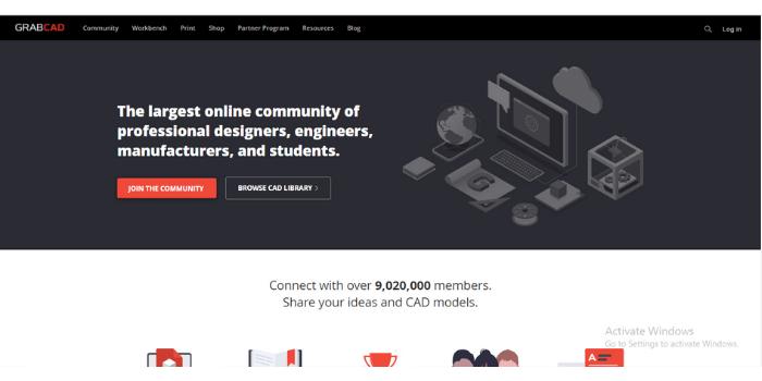 GrabCad (CAD Models) - Useful Websites For Mechanical Engineers